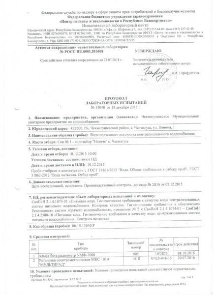 Протокол №13040 1 страница